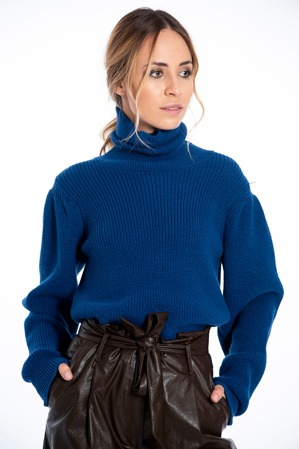 Infinity Knitwear oversized turtle neck jumper