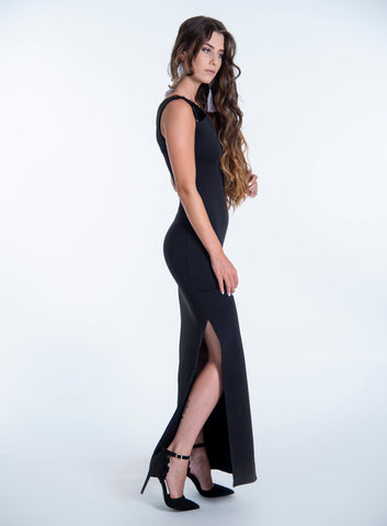 Bojo maxi dress with sequin details on sleeves