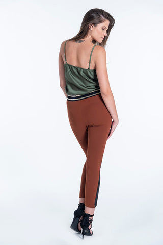 Akè waistband trousers with colour block stripe