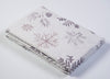 Lenox Alpine Sparkle Rectangle table cloth with silver metallic design
