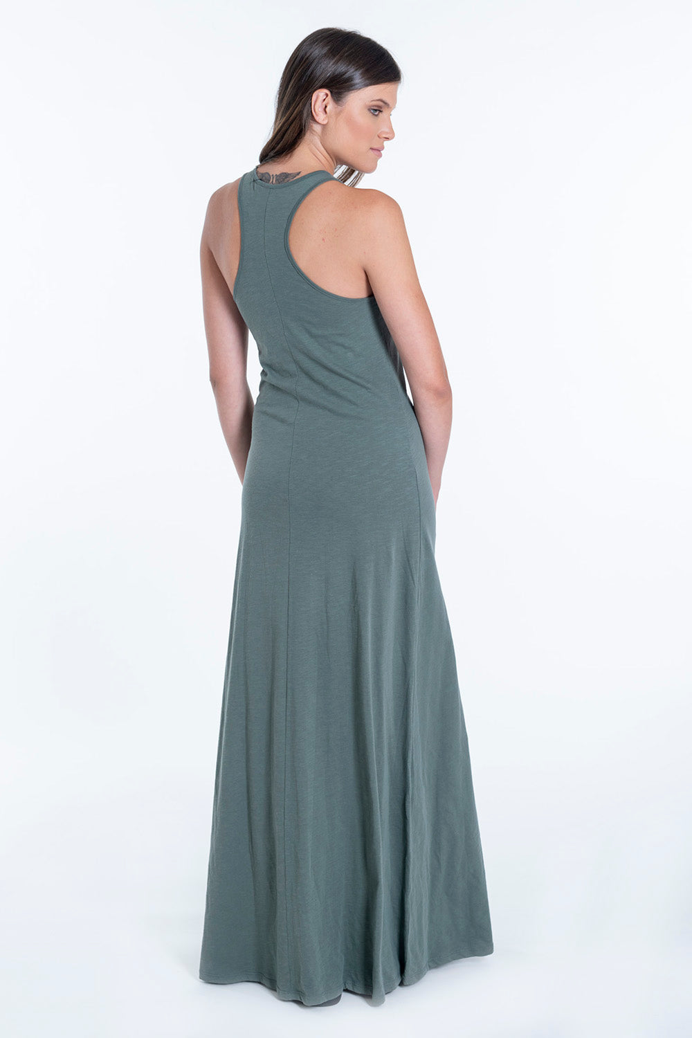 mr&son Collection jersey maxi dress with best mom ever text
