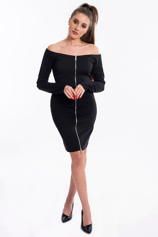 Sh bardot dress with front zip