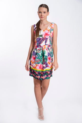 Akè floral A-line mini dress