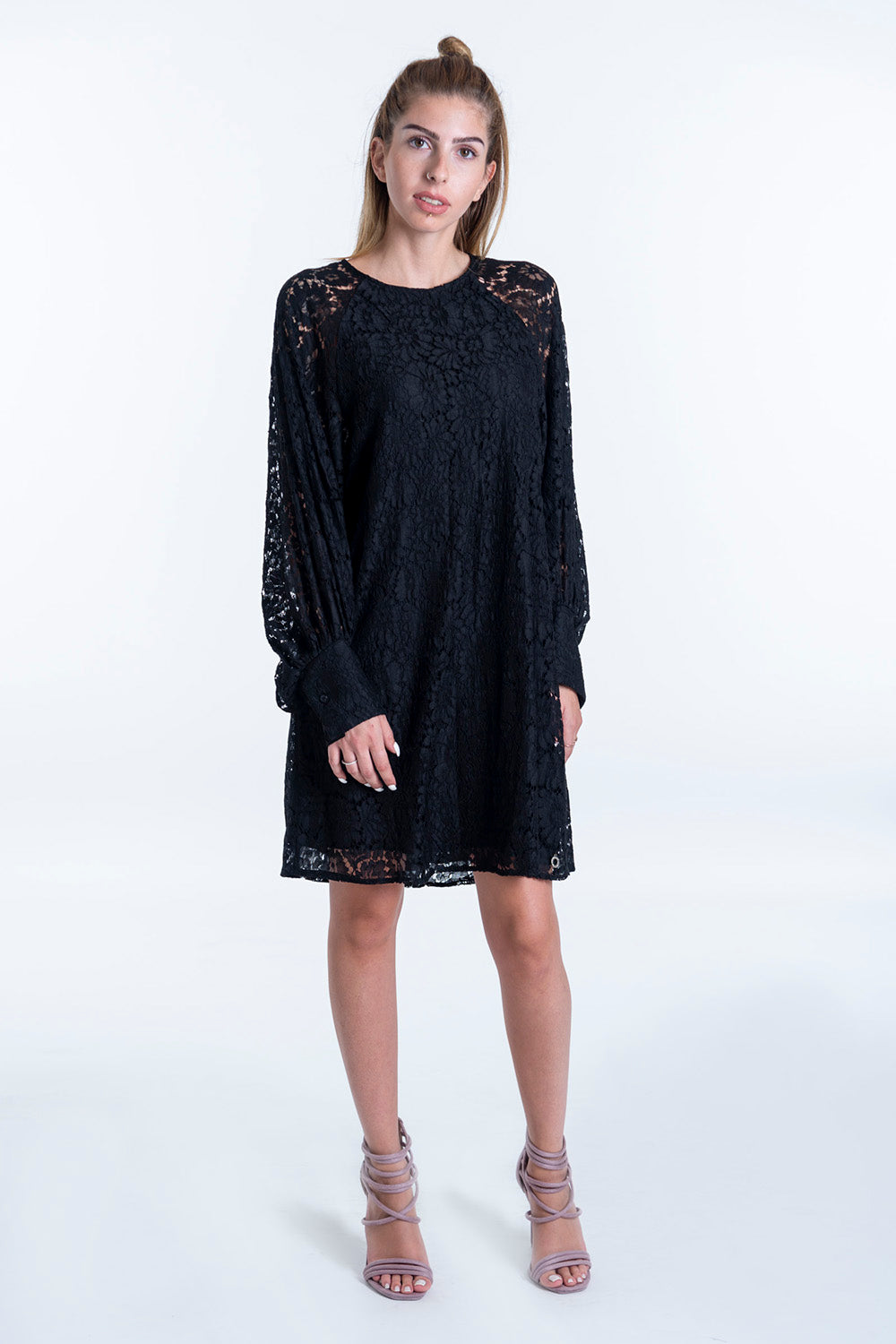 Eco Italy lace dress and extreme bell sleeves
