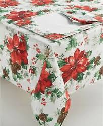 Bardwil linens Christmas Watercolor table cloth
