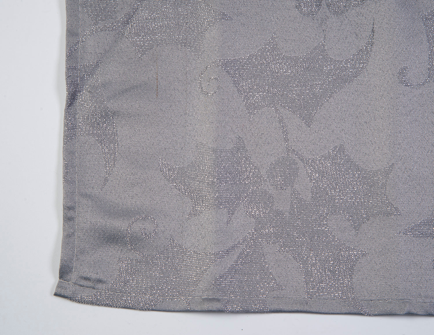 Festive grey with metallic details set of 4 napkins