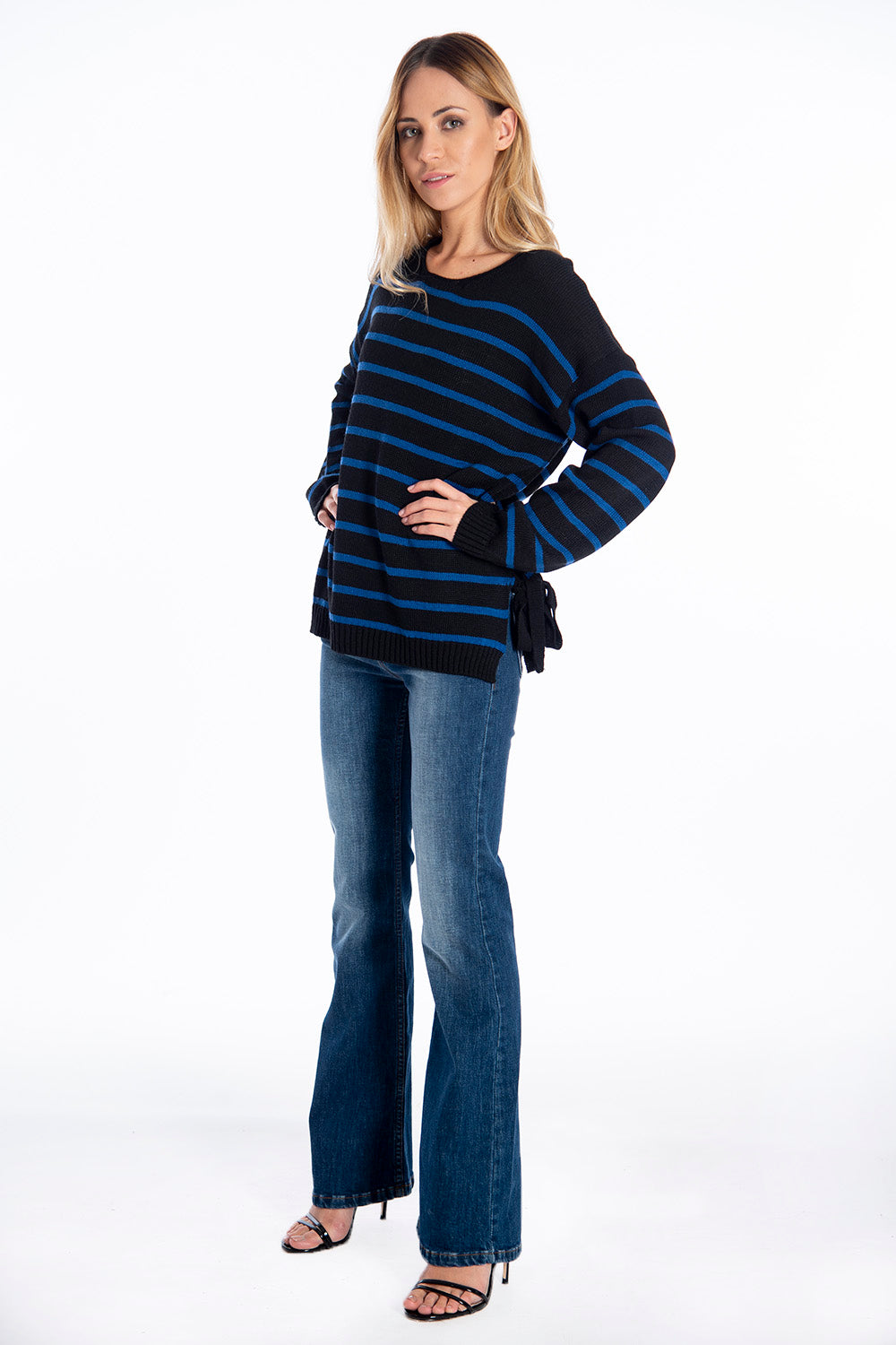 Infinity Knitwear oversized jumper with side ties