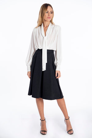 Patrizia Segreti blouse body top with neck tie
