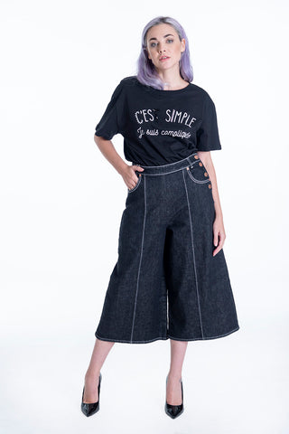 See by Chloé cropped wide leg jeans