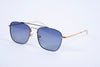 Emporio Artisti Italiani square aviator with blue metal frame