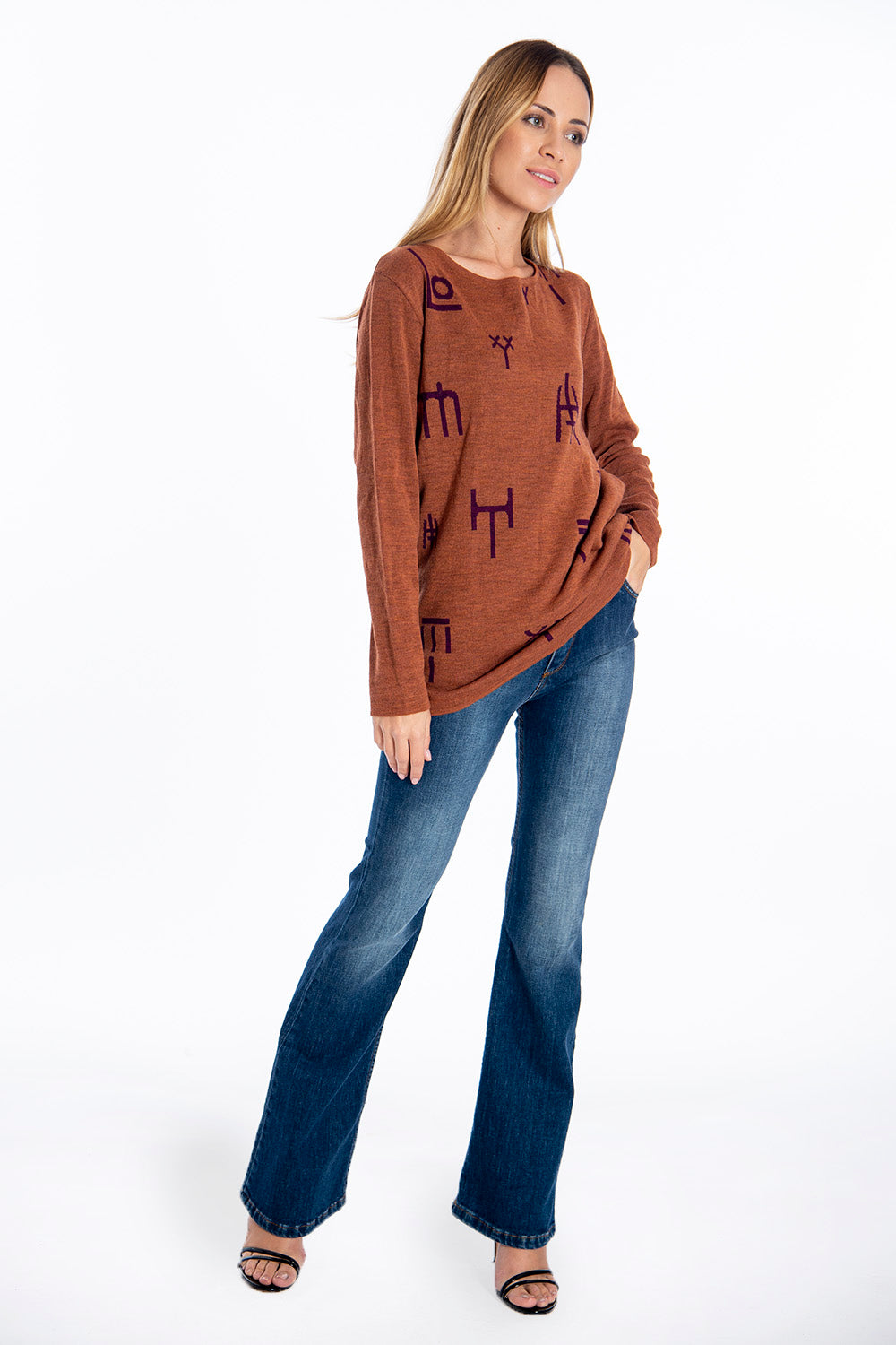 Infinity Knitwear oversized jumper with letters design