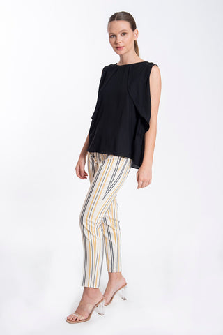 Lovin' Cloz striped straight line trousers