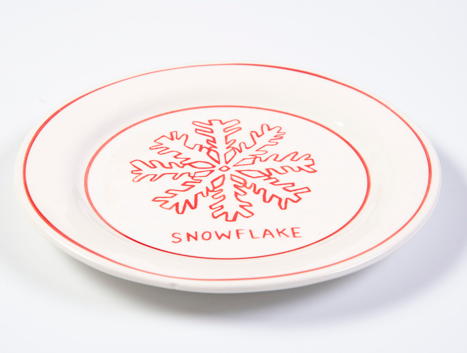 Molly Hatch festive snowflake design small plates