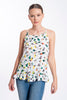 Roberta Biagi floral and frills open back tie top
