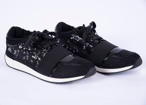 Fabs tied sneakers with sequin details