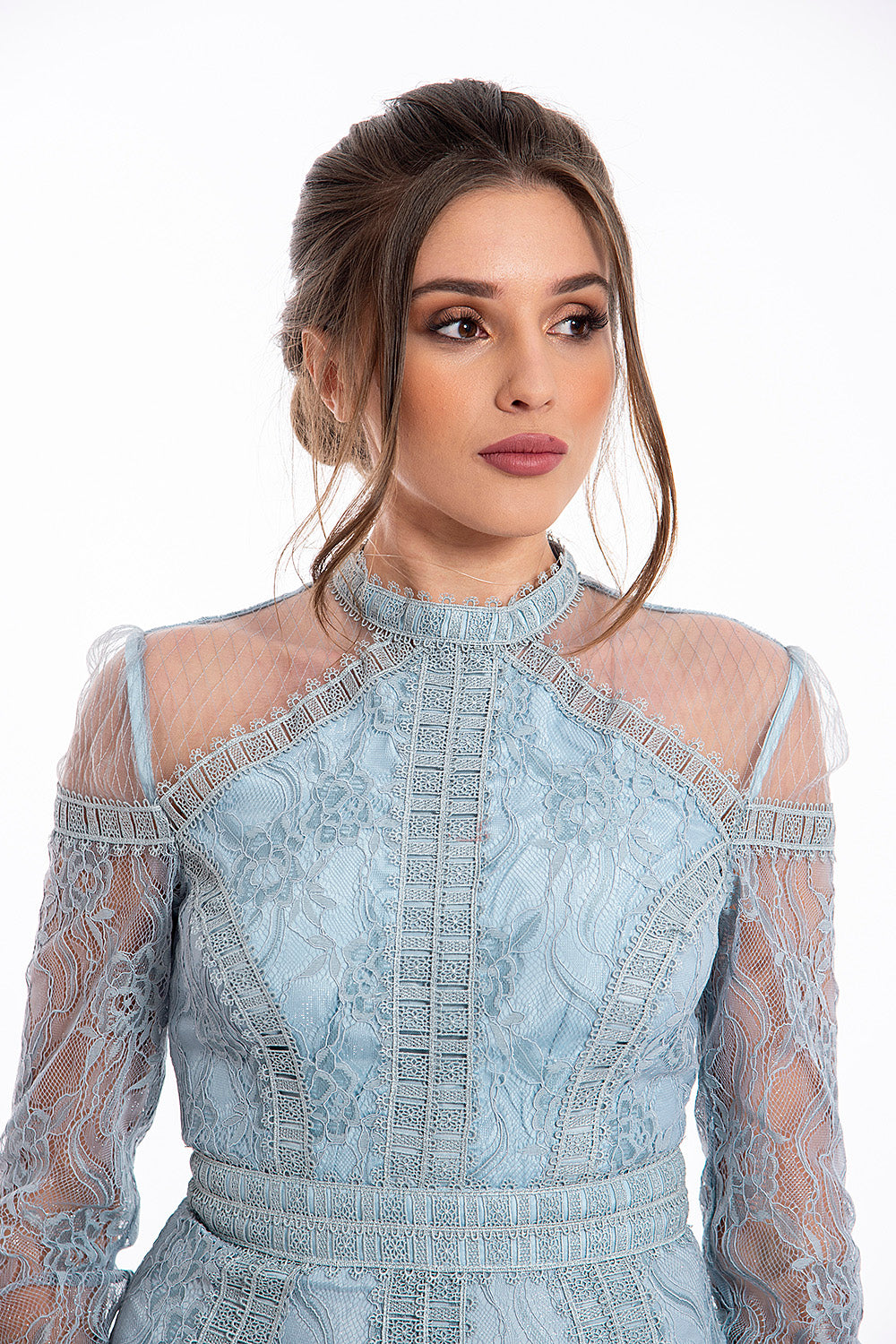 True Decadance lace long sleeved midaxi dress