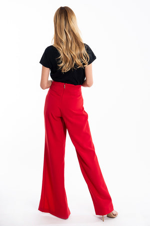 Relish extreme front split trousers with frills