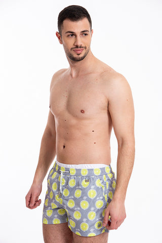 David grey swim shorts with lemons