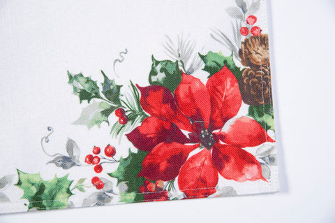 Bardwil linens christmas watercolor placemat