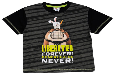 The Secret Life of Pets Liberated forever text t-shirt