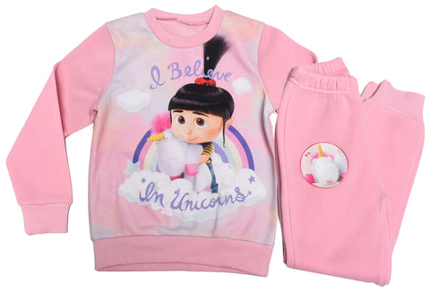 Minions Agnes and Unicorns joggers set