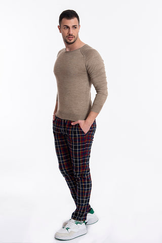 besilent wool jumper in slim fit