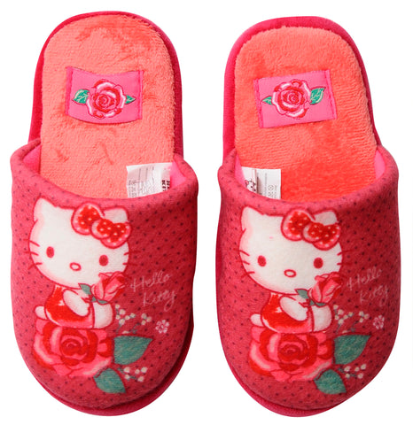 Hello Kitty slippers with roses design