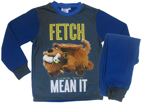 The Secret Life of Pets Fetch text pyjamas set