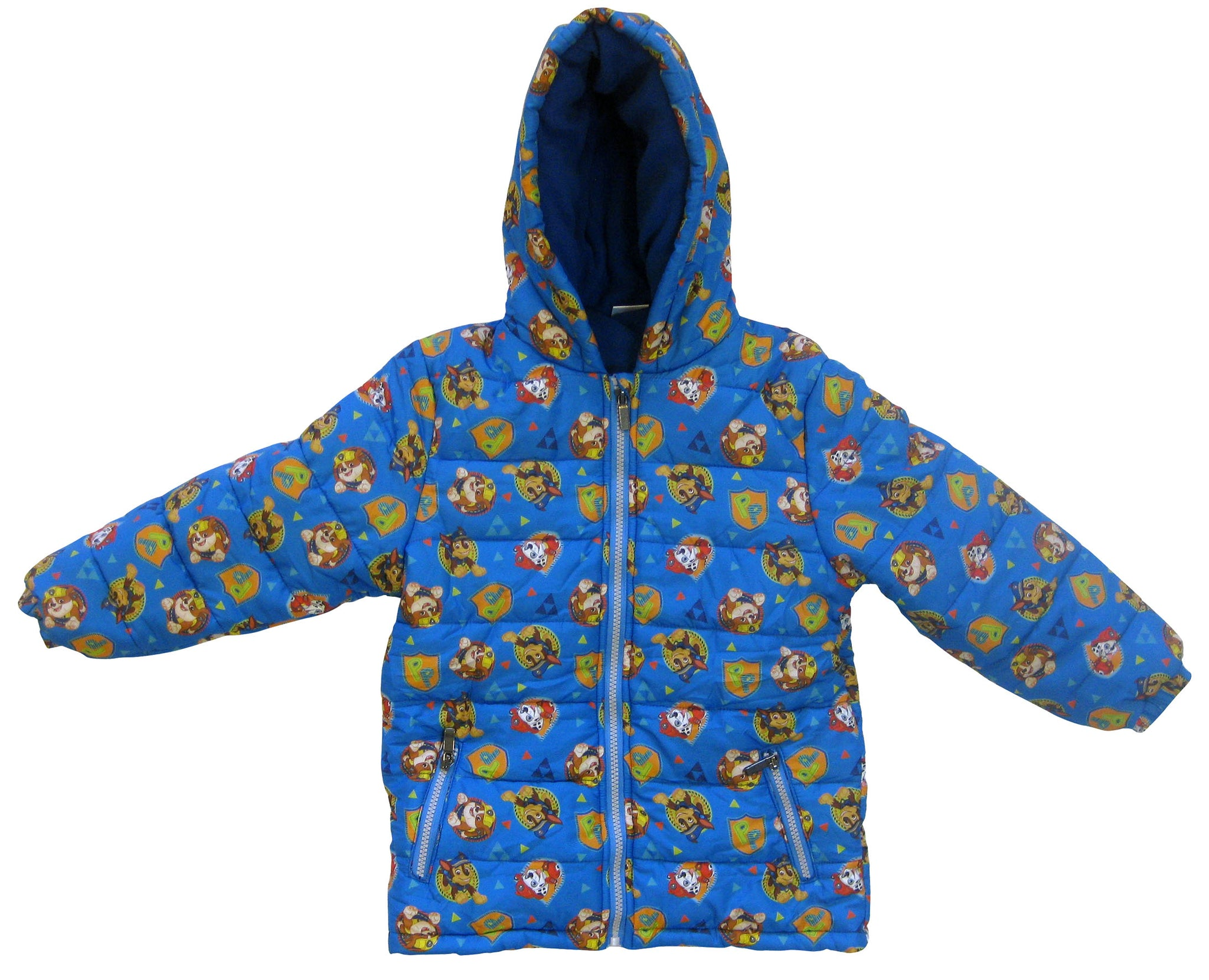 Paw Patrol heroes and logo parka with inner fleece and hood