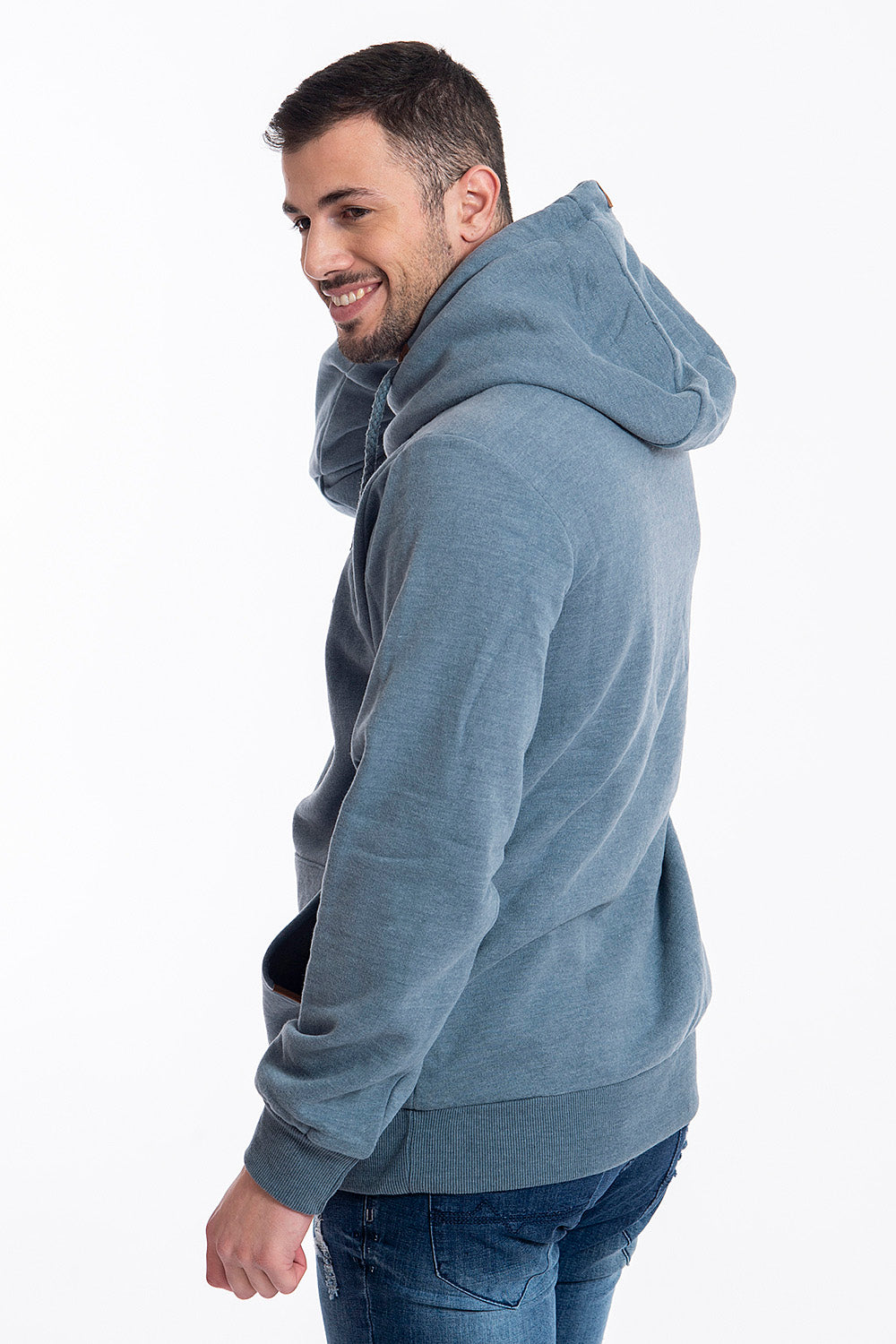 Sublevel turtle neck hoodie with front pockets