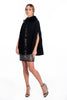 Patrizia Segreti pleated cape with faux fur collar