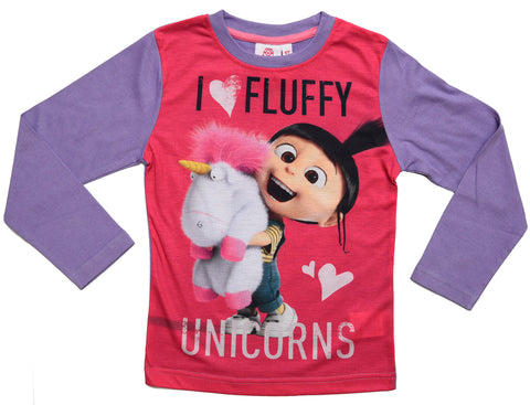 Minions Agnes and Unicorns long sleeve t-shirt