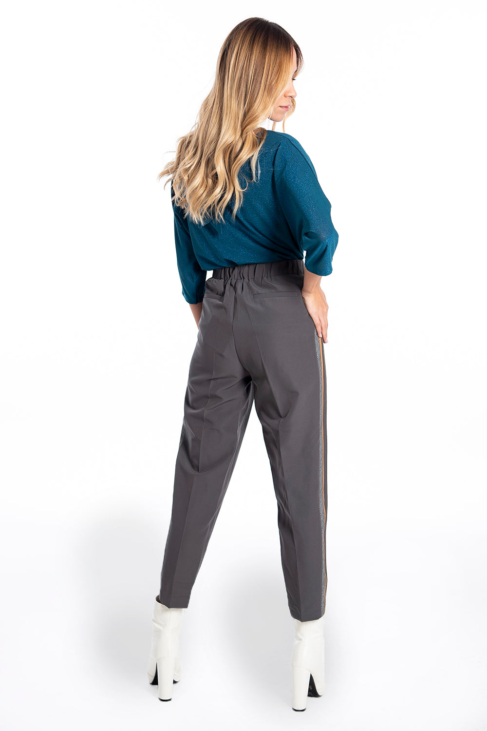 NúNu smart tapered trousers with side stripe