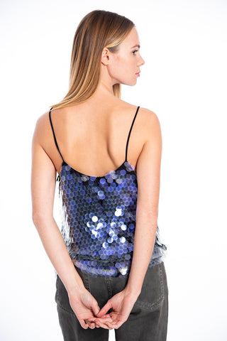 Glamorous purple sequin with cami strap