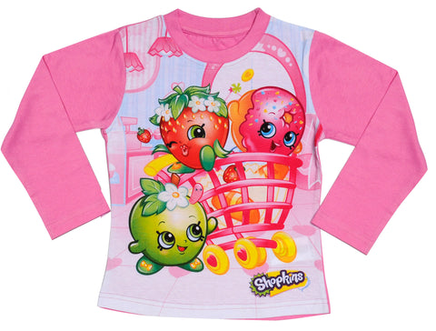 Shopkins long sleeve t-shirt with heroes design