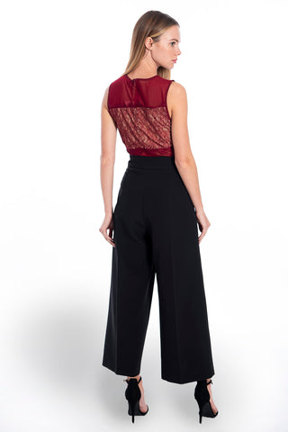 True Decadence red peplum lace top