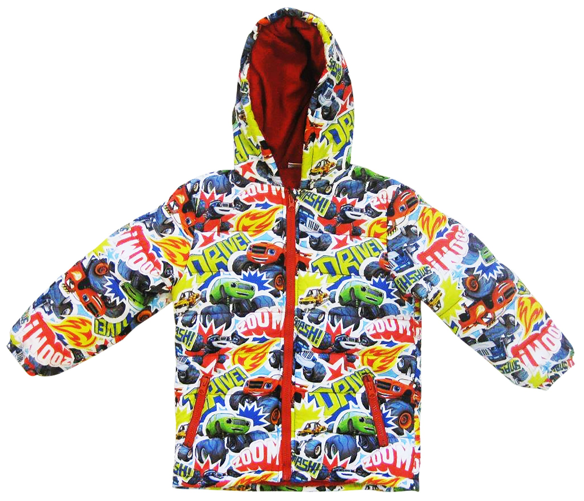 Blaze and the master machines parka with inner fleece and hood