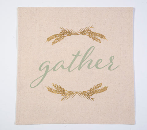 Gather foil text rectangle placemat