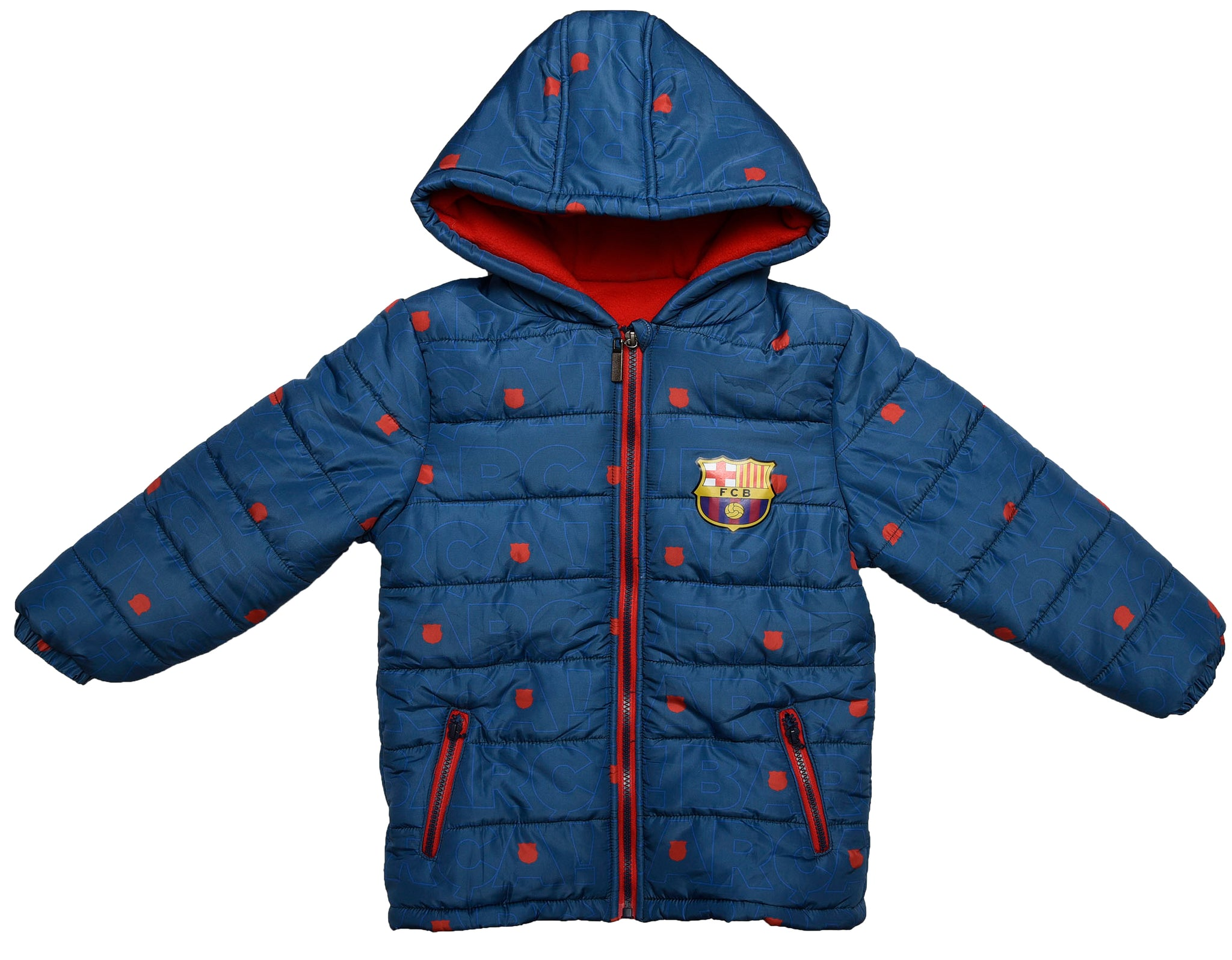 FC Barcelona logo parka with inner fleece and hood