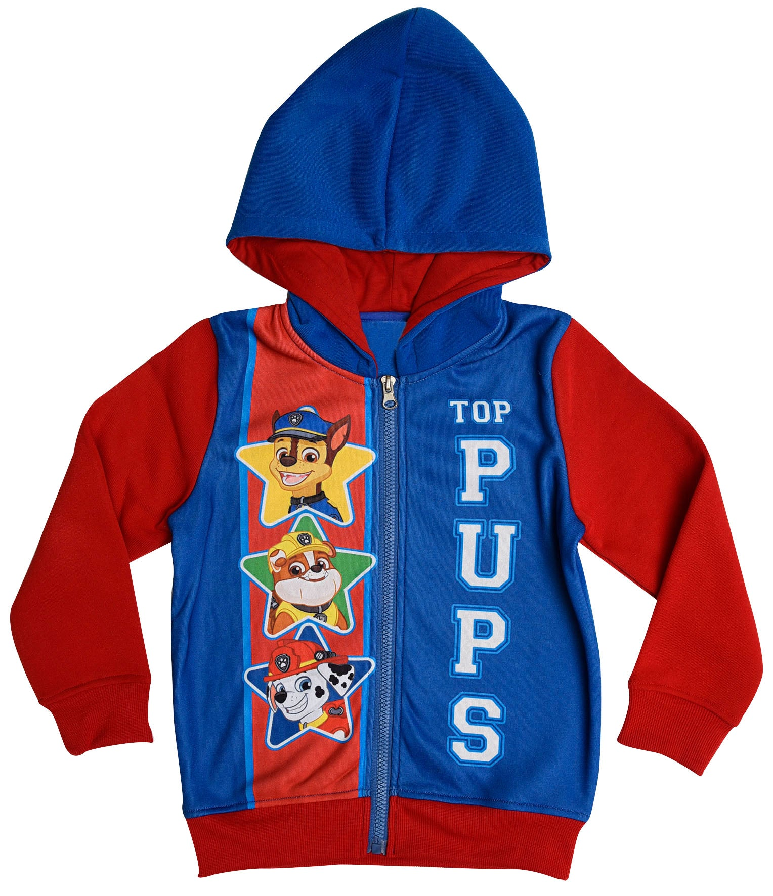 Paw Patrol blue jumper with zip fastening