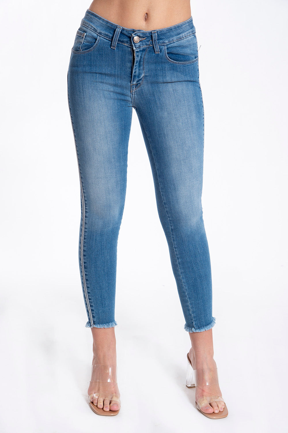 H2O high slim jeans with side stripe