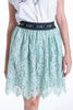 Josh V logo waistband skirt in lace
