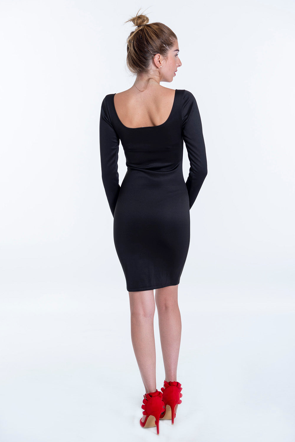 Bojo bodycon dress with front zip