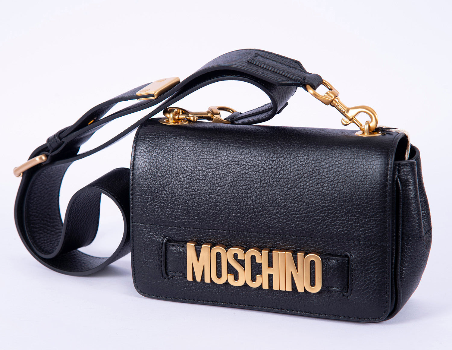 Moschino textured shoulder bag