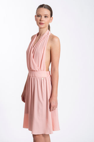 Akè backless halter dress