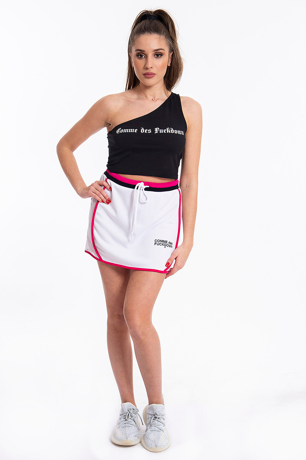 Comme des Fuckdown sports skirt with side net