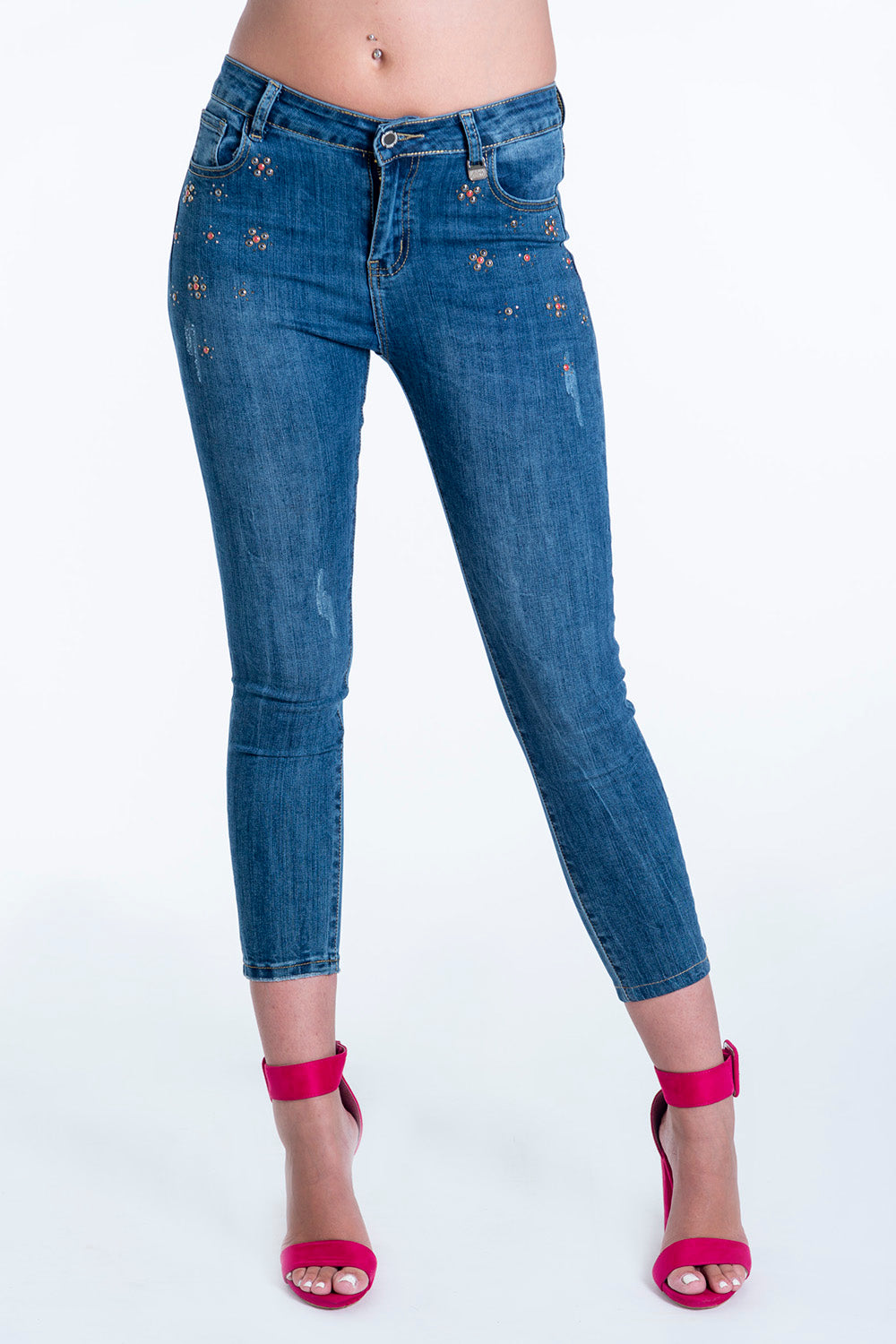 Akè skinny jeans with colorful studs