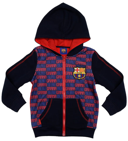 FC Barcelona logo hoodie with pockets and logo design