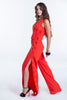 Despina Vandi for Chip&Chip jumpsuit with buttons on wide leg
