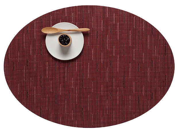 Chilewich cranberry bamboo oval placemat